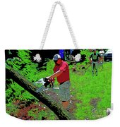 Chuck Chainsaw Weekender Tote Bag