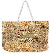 Chuckar Bird Hiding In Grass Weekender Tote Bag