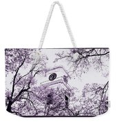 Church Clock In Autumn Weekender Tote Bag