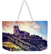 Church Dominant With Decorative Historical Staircase, Graphic Work From Painting. Weekender Tote Bag