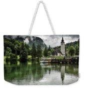 Church In Julian Alps Slovenia Weekender Tote Bag