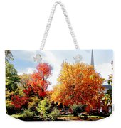 Church In The Distance In Autumn Weekender Tote Bag