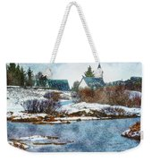 Church In Thingvellir Weekender Tote Bag