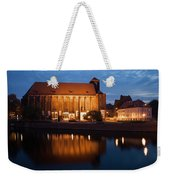 Church Of Our Lady On Sand In Wroclaw By Night Weekender Tote Bag