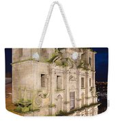 Church Of Saint Lawrence By Night In Porto Weekender Tote Bag