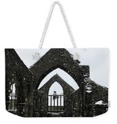 Church Of St Thomas A Becket In Heptonstall In Falling Snow Weekender Tote Bag
