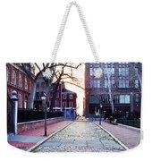 Church Street Cobblestones - Philadelphia Weekender Tote Bag by Bill Cannon