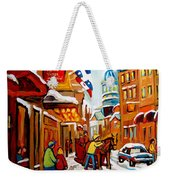 Church Street In Winter Weekender Tote Bag