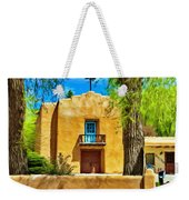 Church With Blue Door Weekender Tote Bag