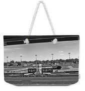 Churchill Downs' Winner's Circle In Black And White Weekender Tote Bag