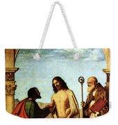 Cima Da Conegliano The Incredulity Of St Thomas With St Magno Vescovo Weekender Tote Bag
