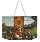 Cima Da Conegliano The Madonna And Child With St John The Baptist And Mary Magdalen Weekender Tote Bag