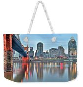 Cincinnati At Dusk Weekender Tote Bag