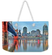 Cincinnati At Ground Level Weekender Tote Bag