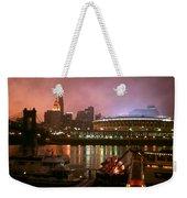 Red Sunset Sky In Cincinnati Ohio Weekender Tote Bag