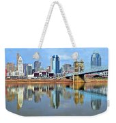 Cincinnati Ohio Times Two Weekender Tote Bag