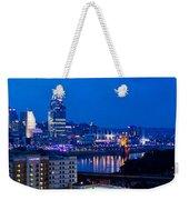 Cincinnati Skyline At Night Weekender Tote Bag