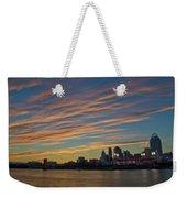 Cincinnati Sunset Weekender Tote Bag