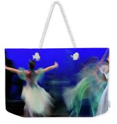 Cinderella And Fairy Godmother Dancing With Green Fairies In Bal Weekender Tote Bag