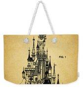 Cinderella Castle Patent Weekender Tote Bag