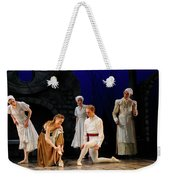 Cinderella Trying On The Other Slipper At Home With Stepmother A Weekender Tote Bag