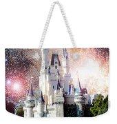 Cinderella's Castle, Fantasy Night Sky, Walt Disney World Weekender Tote Bag