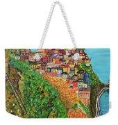 Cinque Terre, Ocean Seascape Art Weekender Tote Bag