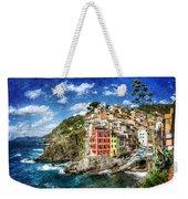 Cinque Terre - Riomaggiore From Above- Vintage Version Weekender Tote Bag