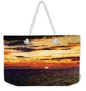 Cinque Terre - Sunset From Manarola - Panorama - Vintage Version Weekender Tote Bag