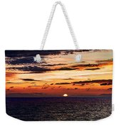 Cinque Terre - Sunset From Manarola - Panorama Weekender Tote Bag