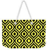 Circle And Oval Ikat In Black N05-p0100 Weekender Tote Bag