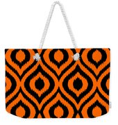 Circle And Oval Ikat In Black T03-p0100 Weekender Tote Bag