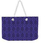 Circle And Oval Ikat In Black T09-p0100 Weekender Tote Bag