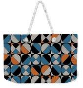 Circle Grid Weekender Tote Bag