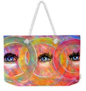 Circle Of Eyes Weekender Tote Bag