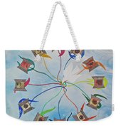 Circle Of Hearts Weekender Tote Bag