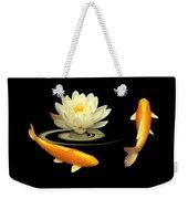 Circle Of Life - Koi Carp With Water Lily Weekender Tote Bag