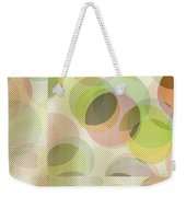 Circle Pattern Overlay Weekender Tote Bag