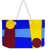 Circles Lines Color Weekender Tote Bag
