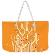 Circuit Board Graphic Weekender Tote Bag by Setsiri Silapasuwanchai