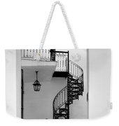 Circular Staircase In Black And White Weekender Tote Bag