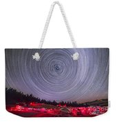 Circumpolar Star Trails Above The Table Weekender Tote Bag