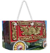 Circus Car In Red And Gold Weekender Tote Bag