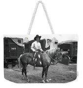 Circus Cowboy On Horse Weekender Tote Bag