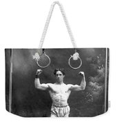 Circus Strongman, 1885 Weekender Tote Bag