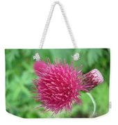 Cirsium Burgandy Thistle Weekender Tote Bag