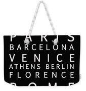 Cities Of Europe Weekender Tote Bag
