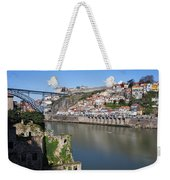 Cities Of Porto And Gaia In Portugal Weekender Tote Bag