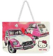 Citroen Dyane Hello Kitty Weekender Tote Bag