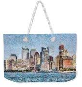 City - Ny - Manhattan Weekender Tote Bag